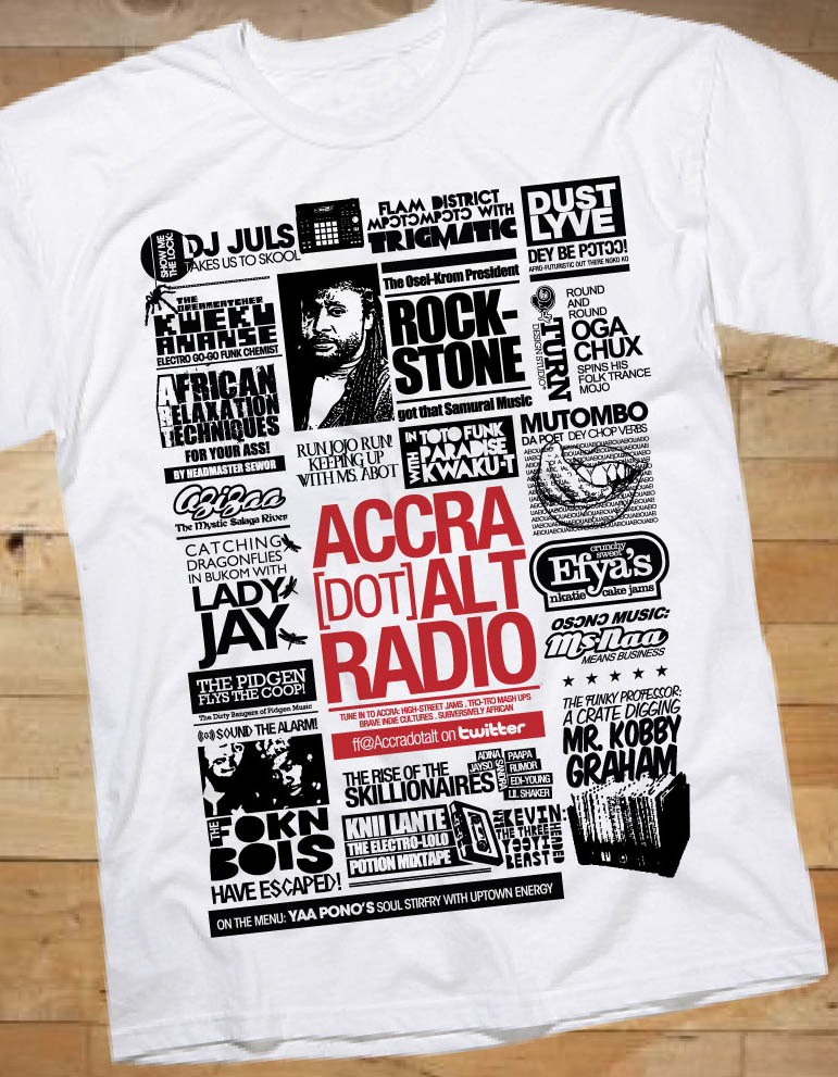 GET THE LIMITED EDITION ACCRA [dot] ALT RADIO T-SHIRT TODAY!