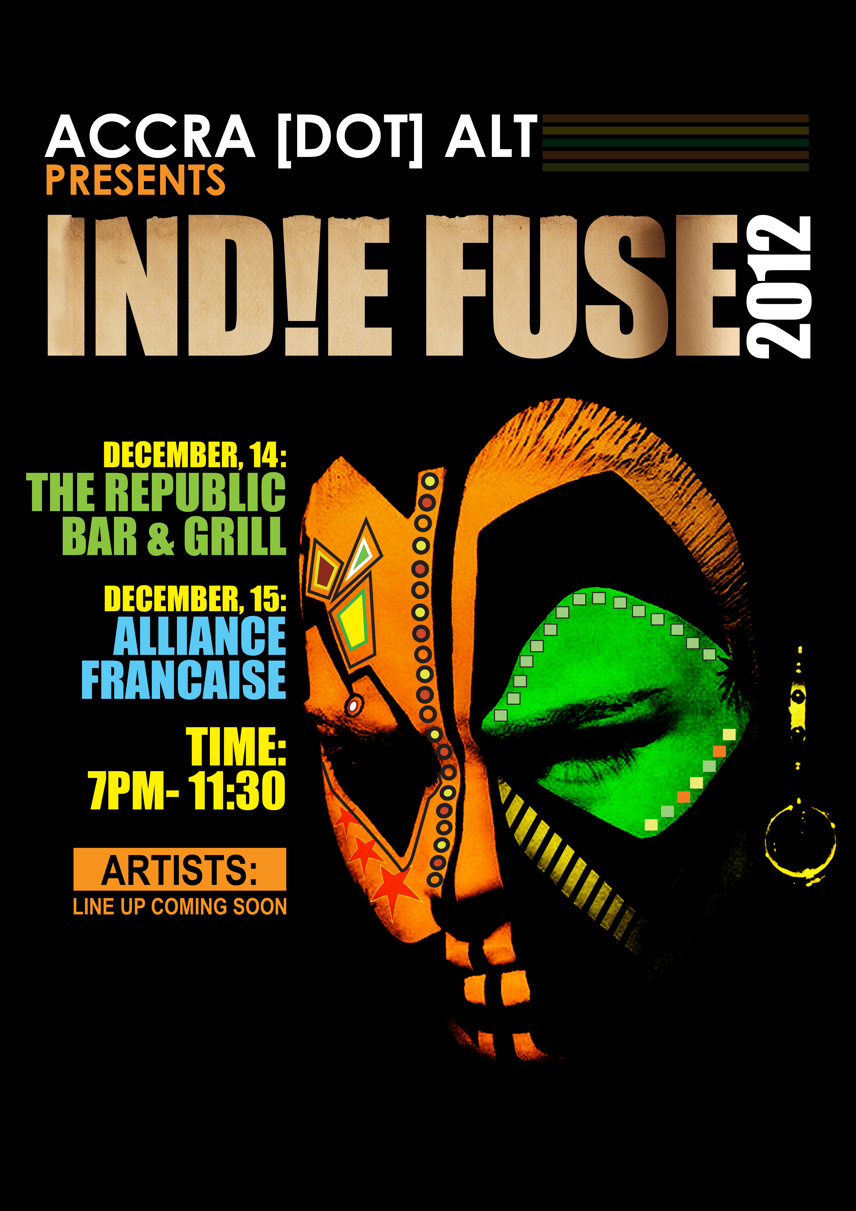 IND!E FUSE 2012: LIVE ELECTRO MUSIC SHAKE UP IN ACCRA, DECEMBER 14TH &15TH