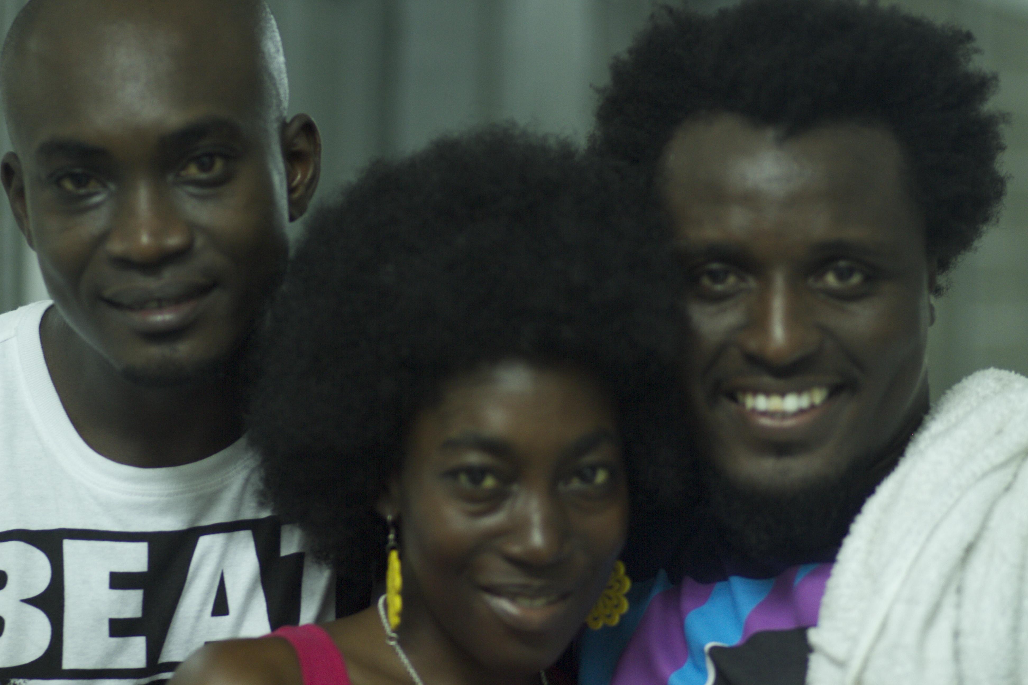 PY Annan, Toke Olagbaju + Mantse Aryeequaye after the show