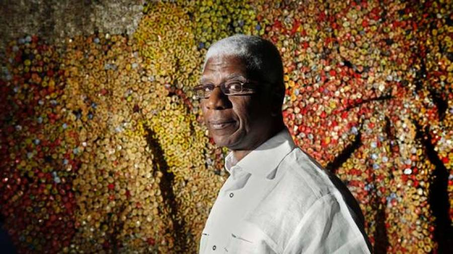 El Anatsui by Moe Doiron [ The Globe and Mail]
