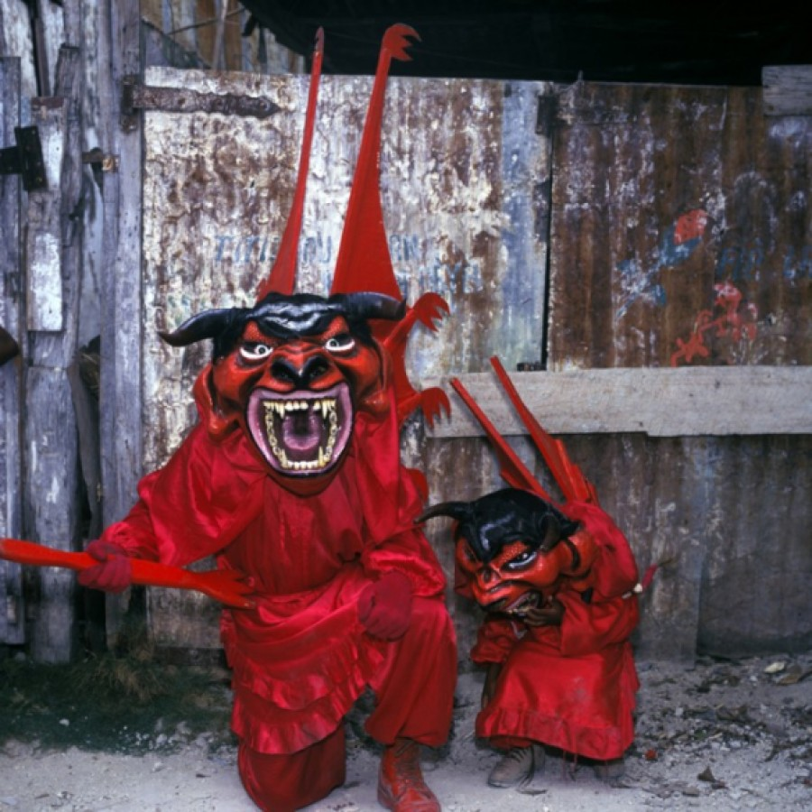 Big Devil Little Devil, Jacmel, Haiti, 1997 via The Third Eye | photo by Phyliis Galembo