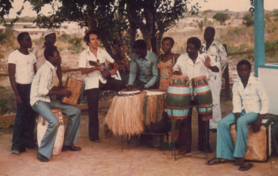 BOKOOR BAND with traditional drums, Bokoor House [1975] via BAPMAF