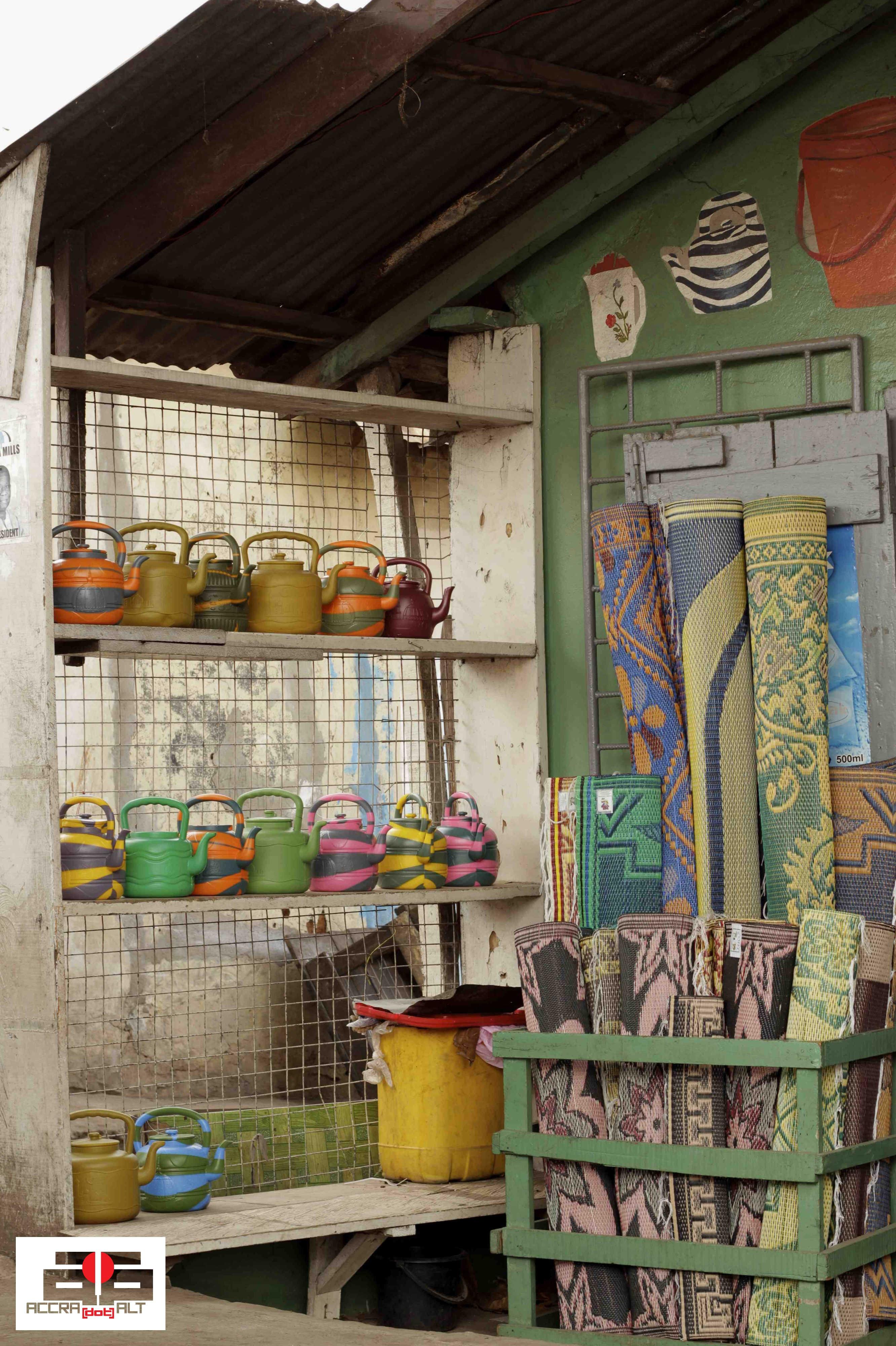 On Sale: Funky Tea Kettles & Straw Mats