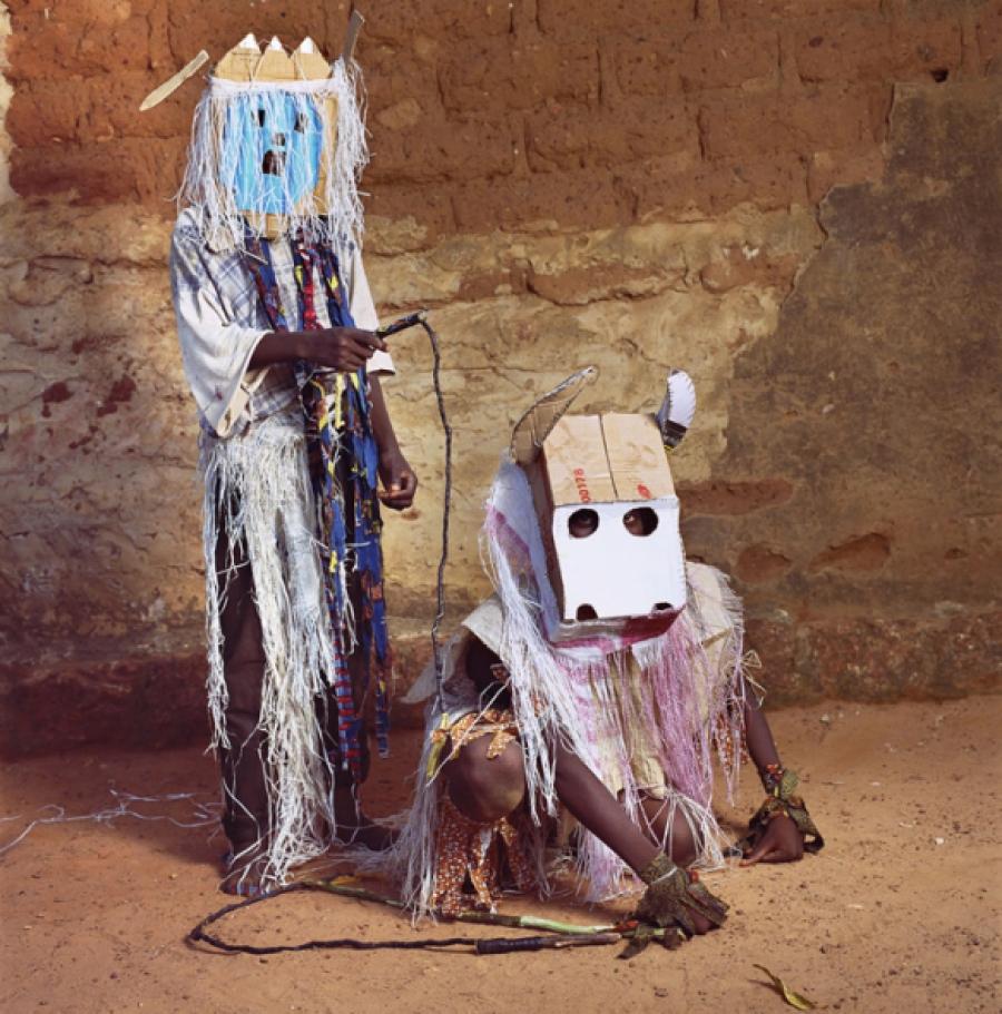 Ghost and Bull, Dodo Masquerade, Bobo-Dioulasso, Burkina Faso, 2009 via The Third Eye | photo by Phyllis Galembo