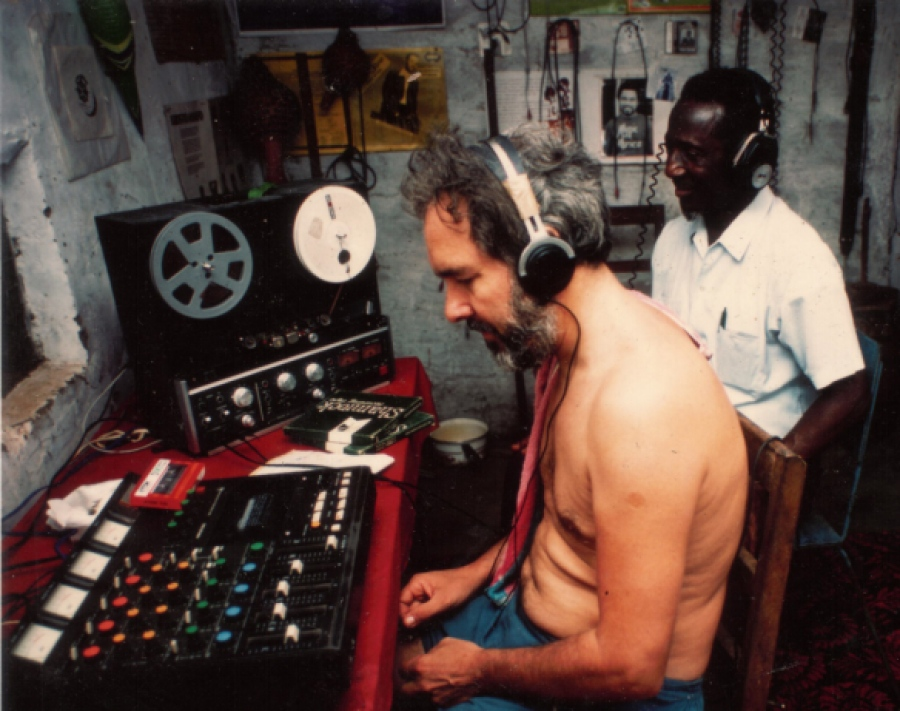 JOHN COLLINS x KING BRUCE at the Bokoor Studio, 1987 via BAPMAF