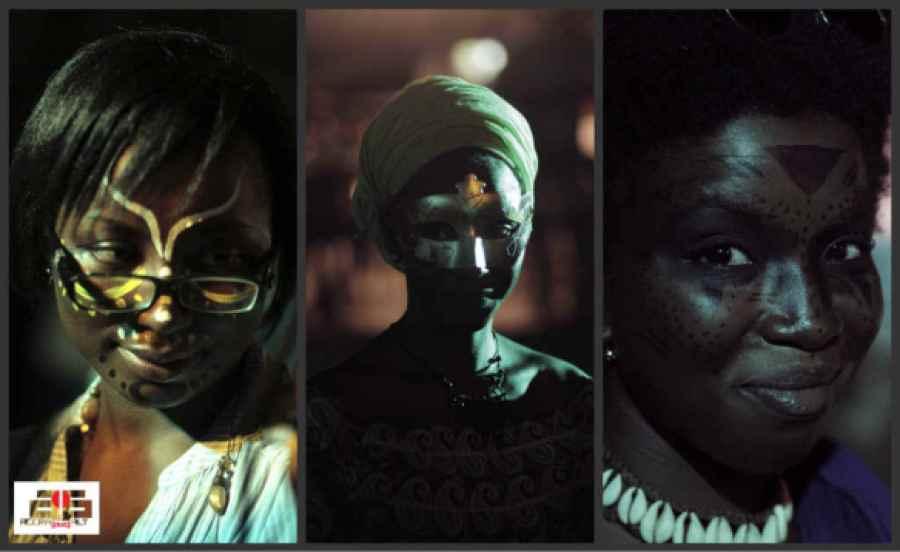 Masquerade Jam - April 2013 - 3 Masked Ladies - photo by ACCRA dot ALT