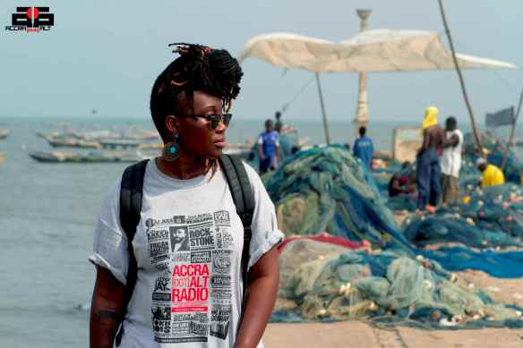 TAWIAH on James Town Pier, Accra | photo by REDD Kat Pictures [Dec. 2012]