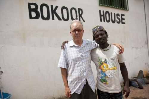 John Collins with musician LION outside Bokoor House via BAPMAF