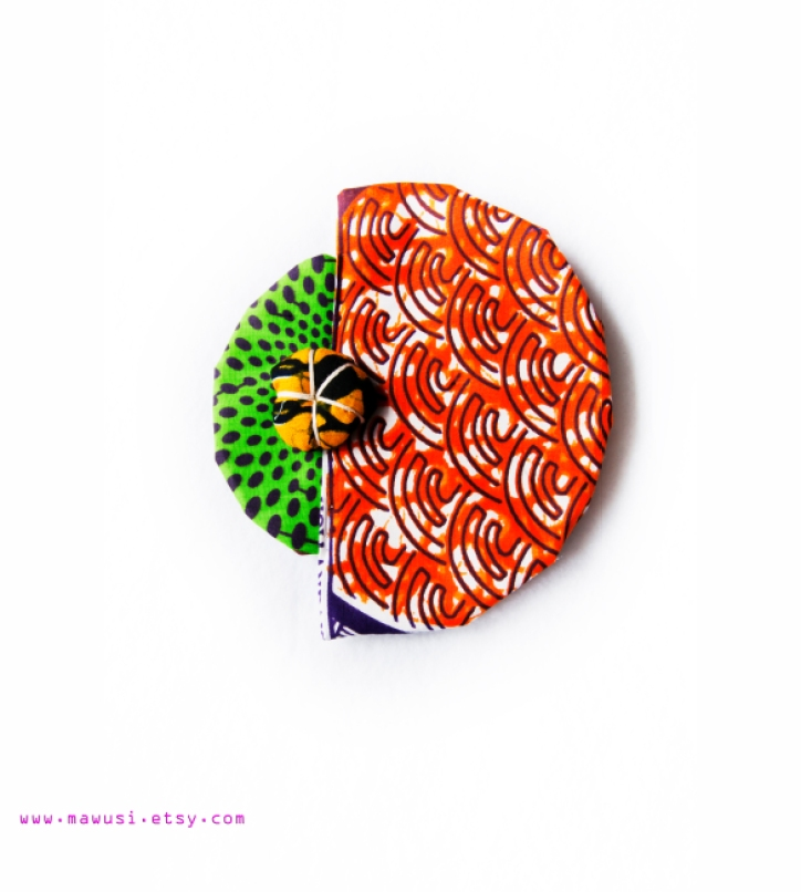 Moon Hat in Orange Print