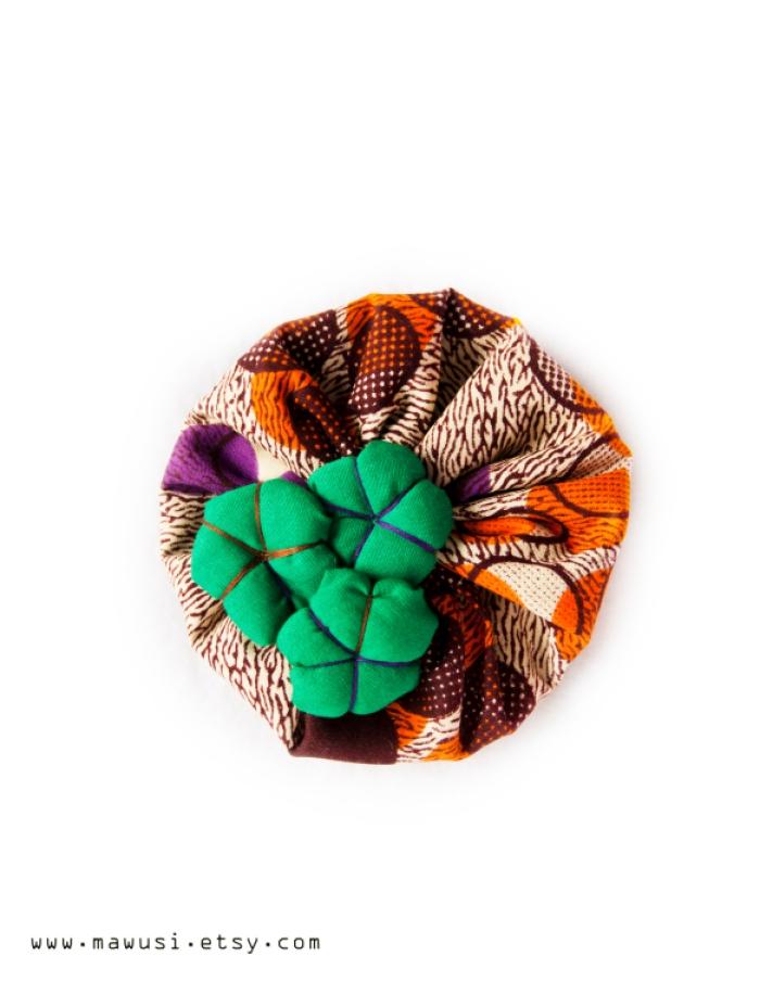 Yoyo Japanese Geometric Print Puffy Hat