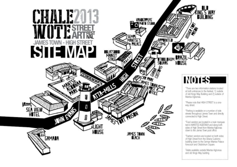 Chale Wote 2013 Site Map