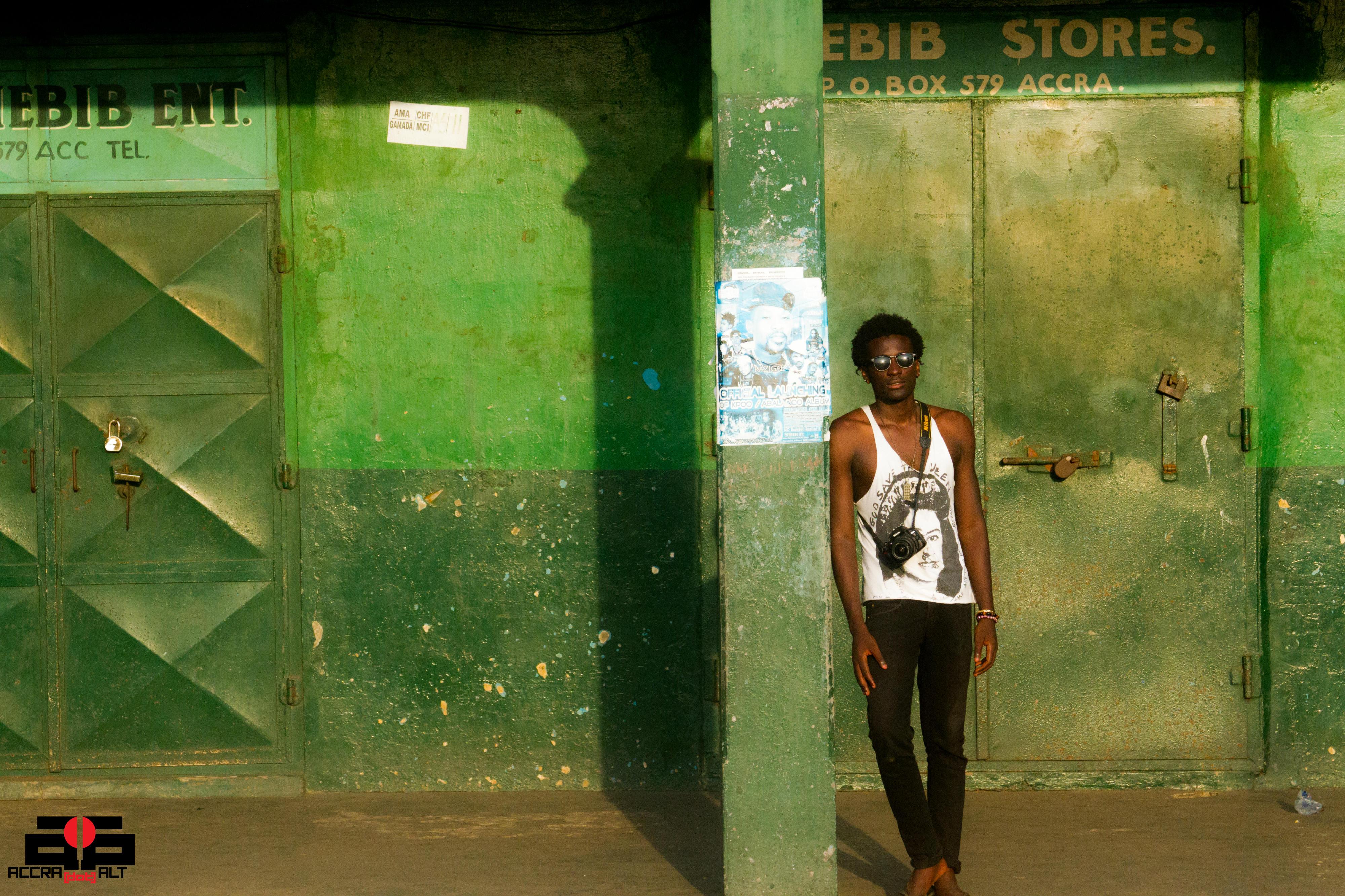 Drunk Beggar Thief in central Accra