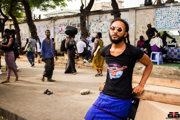Wanlov the Kubolor hangs out in central Accra