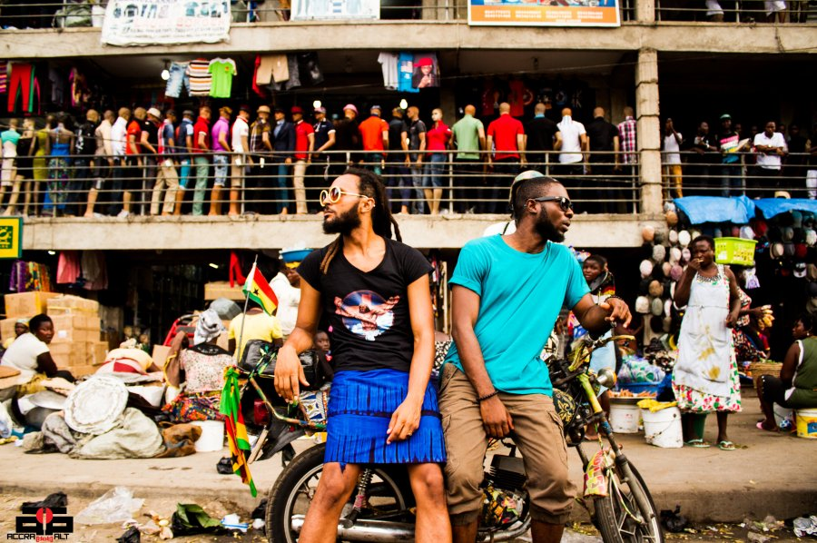 Wanlov the Kubolor + M3NSA = FOKN BOIS. Photo taken in Central Accra