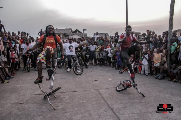 These guys are by far the fiercest bikers in Accra