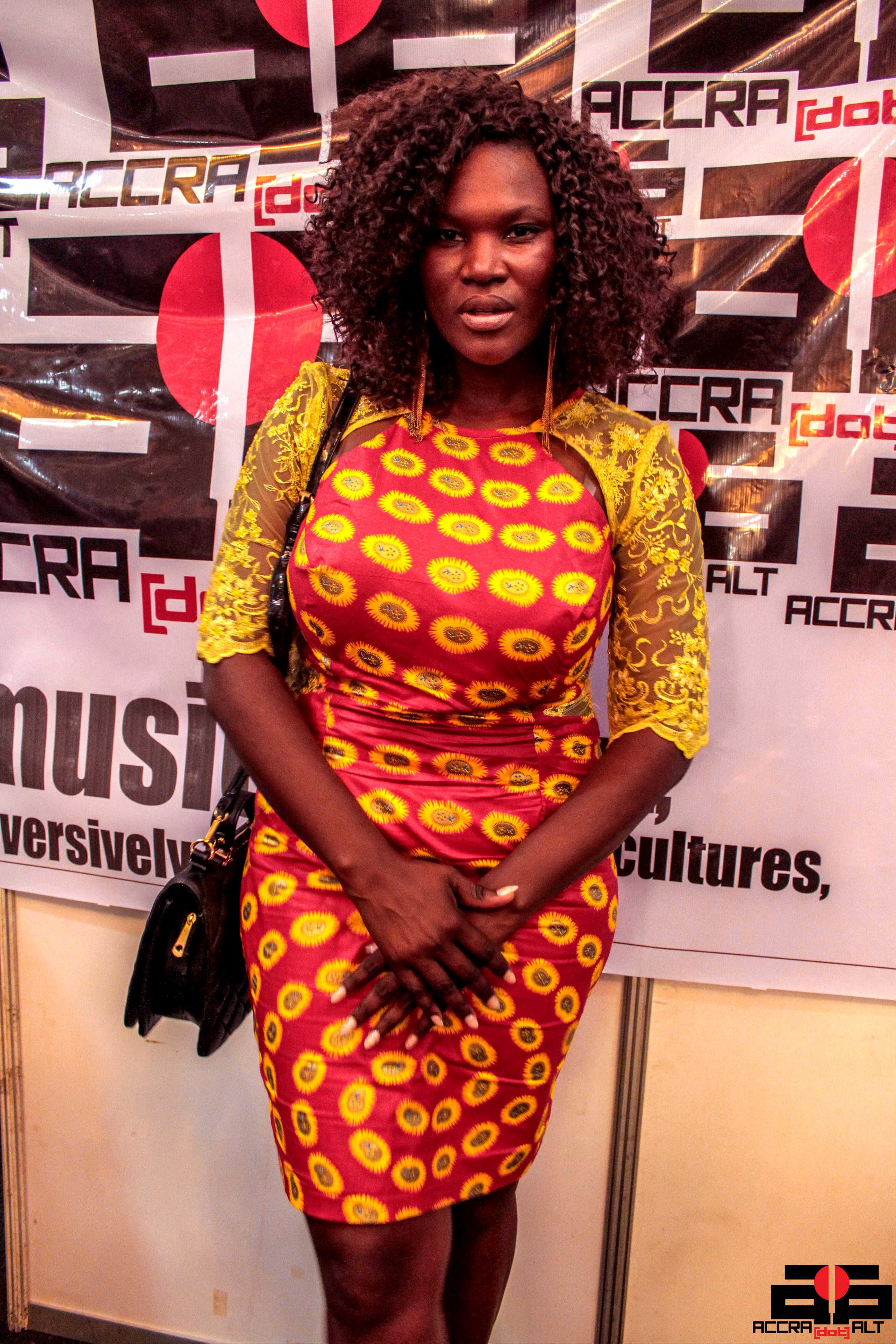 Media mogul Anita Erskine sports a beautiful Accra-made dress