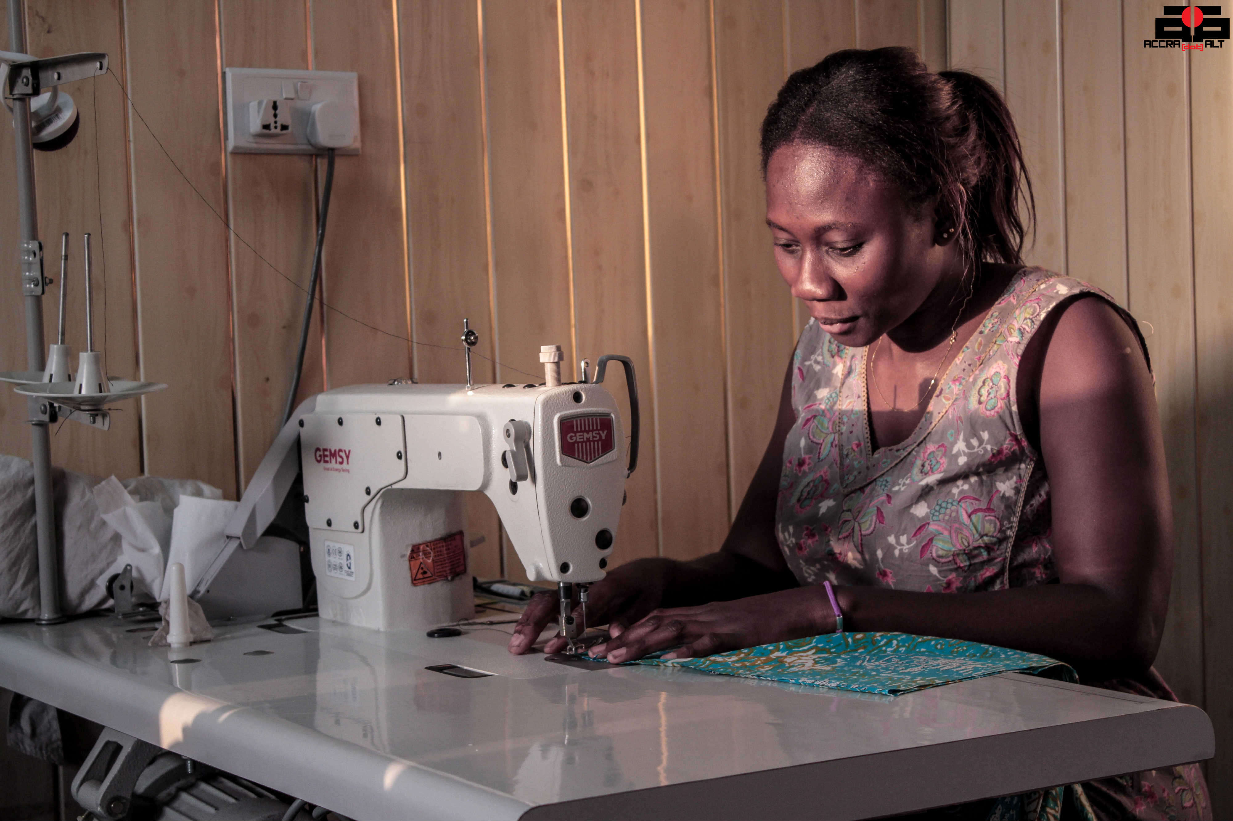 Hazel Quaye hardly designs her own clothes now.