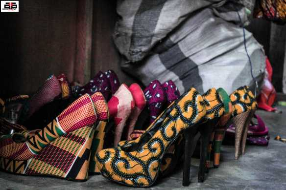 Fabric coated ladies shoes are so in right now.