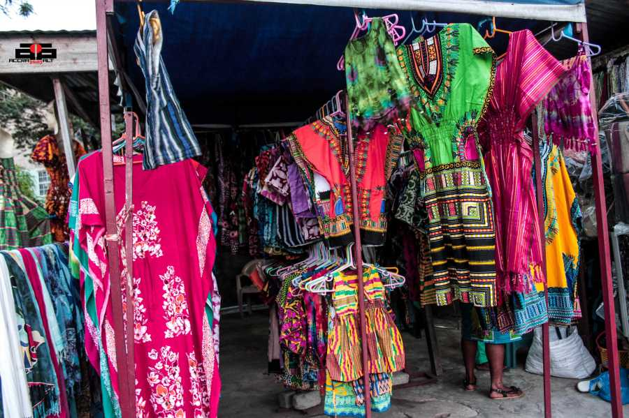 Fashion stalls like this are making a decent income for  the owners.
