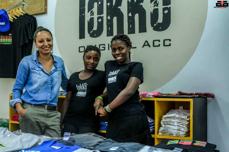Stefania hanging with LOKKO staff.