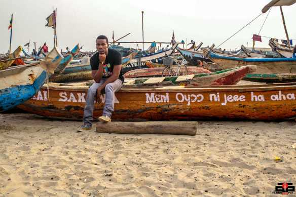 Villy gets his first experience at the Old Accra harbor in James Town-Accra