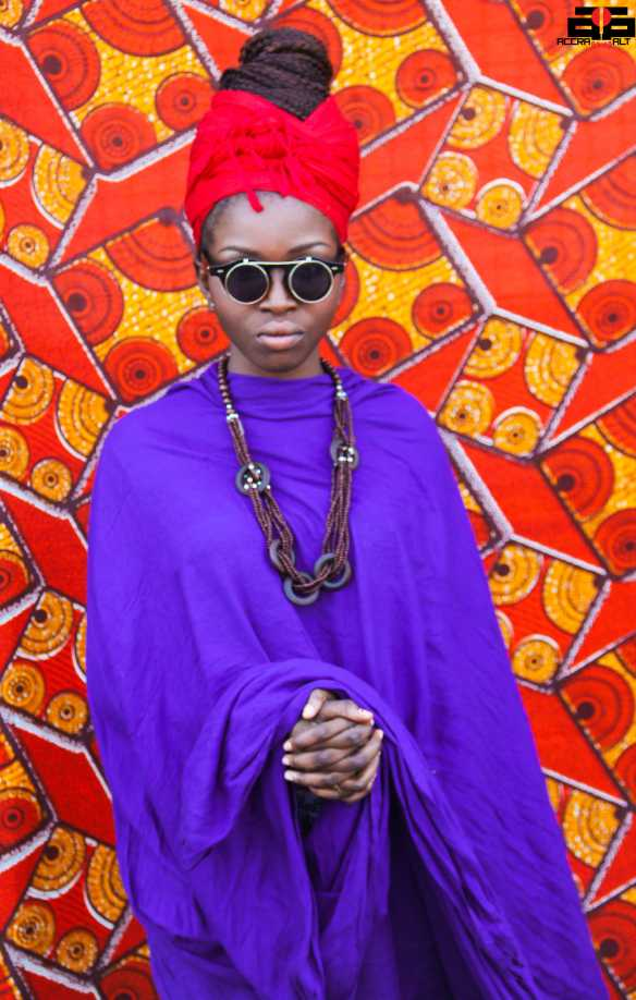 One of Accra's talented vocalist and style icon Lady Jay is at Chale Wote every year.