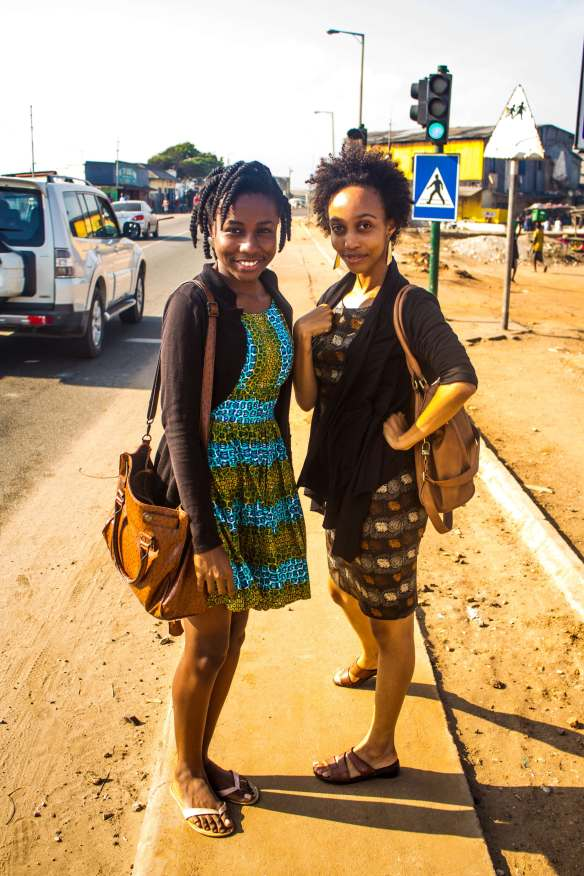 Emelia & Elizabeth Efua Surtherland of Accra Theatre Workshop in James Town.