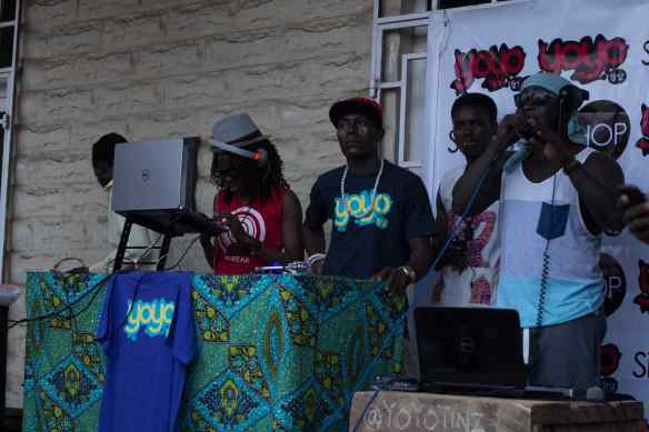 Jayso at the Gbobalor Hiphop station + DJ Keyzz & DJ Vim Tinz.
